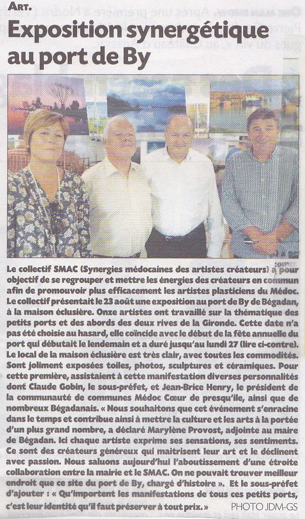 Expo au Port de By - Journal du Médoc - août 2018