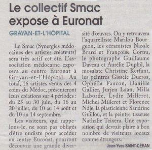 Expos à Euronat -Courrier de Gironde - juin 2019